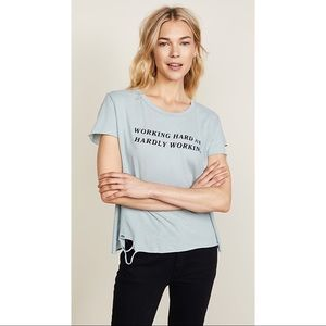 WILDFOX Hardly Working Tee New With Tags